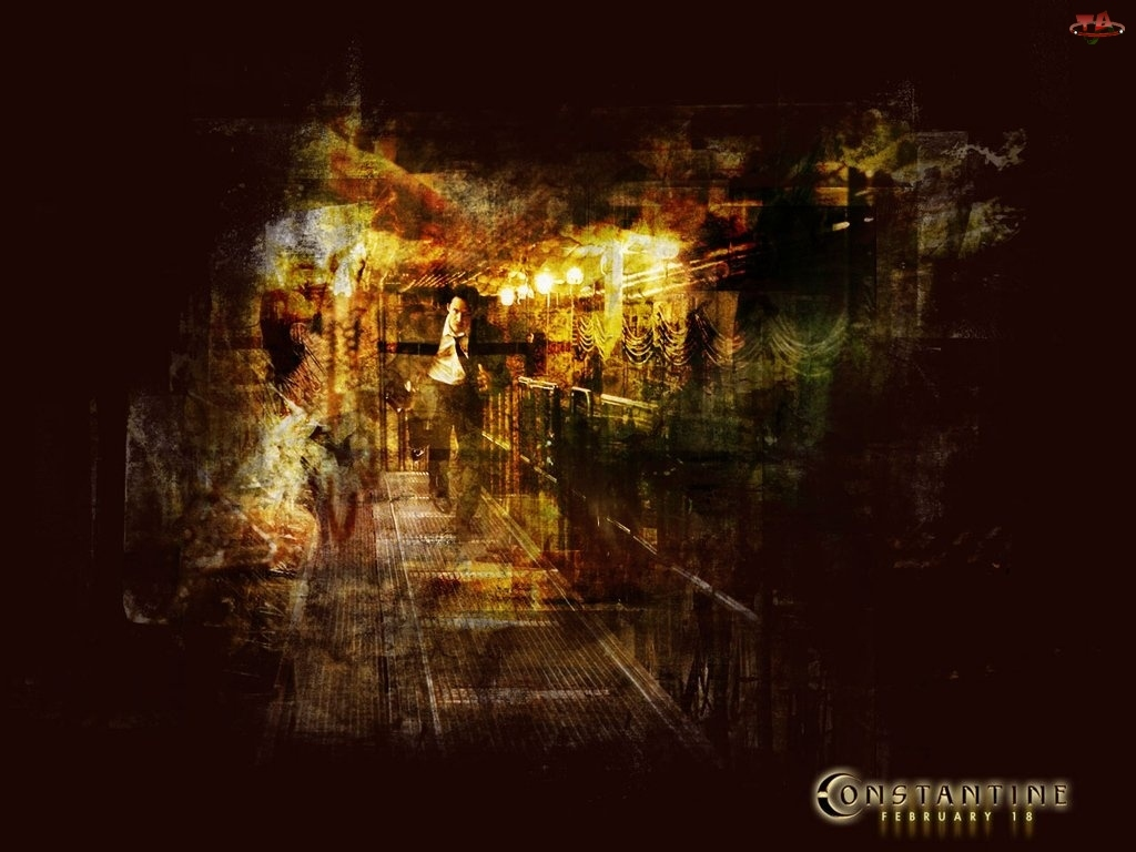 Constantine, biegnie, tunel, mężczyzna