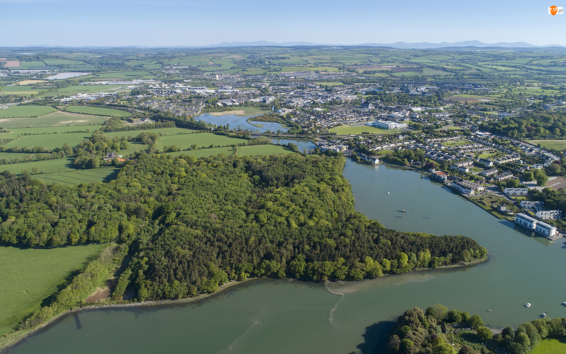 Owenacurra, Miasto, Lasy, Hrabstwo Cork, Midleton, Rzeka, Irlandia, Domy
