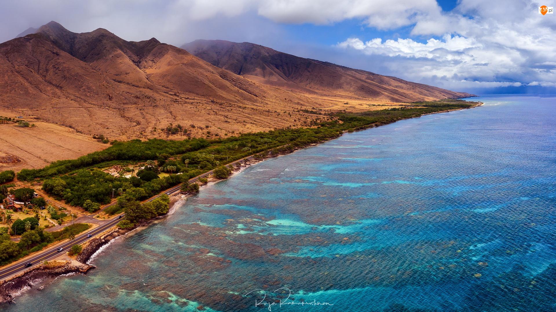 West Maui, Góry, Stany Zjednoczone, Wybrzeże, Hawaje, Wyspa Maui, Morze