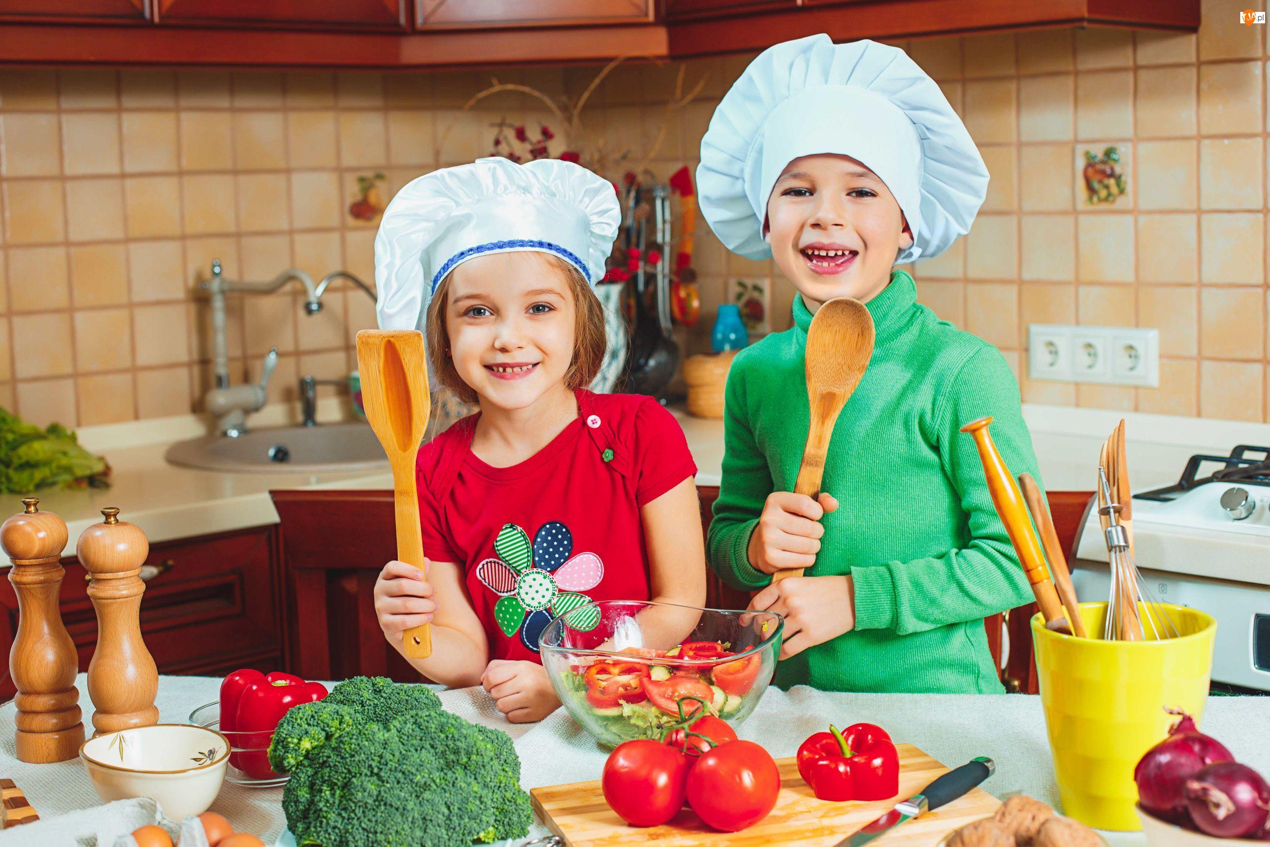 Czapki kucharskie, Kuchnia, Dzieci