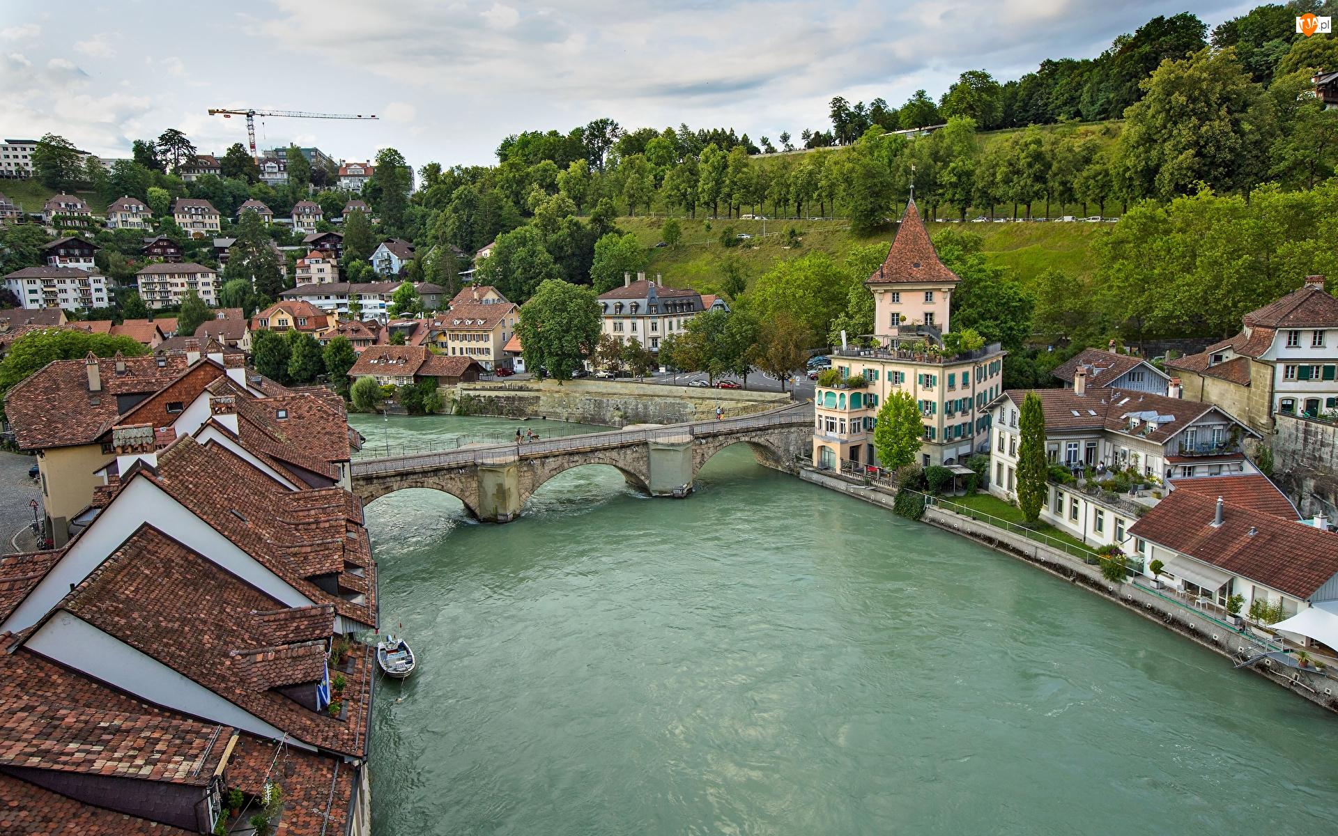 Domy, Most, Berno, Szwajcaria, Rzeka Aar