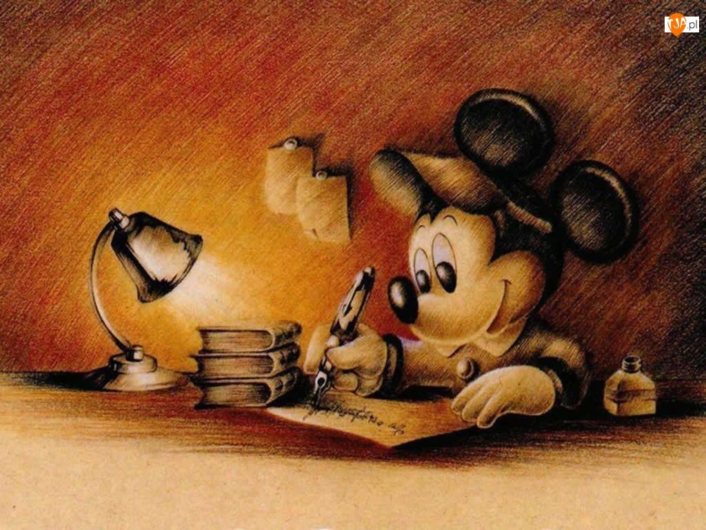 Myszka Miki, szkic