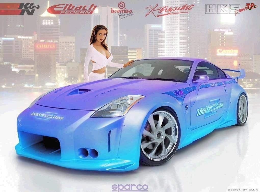 Nissan 350Z, Sparco, Tuning, Kobieta