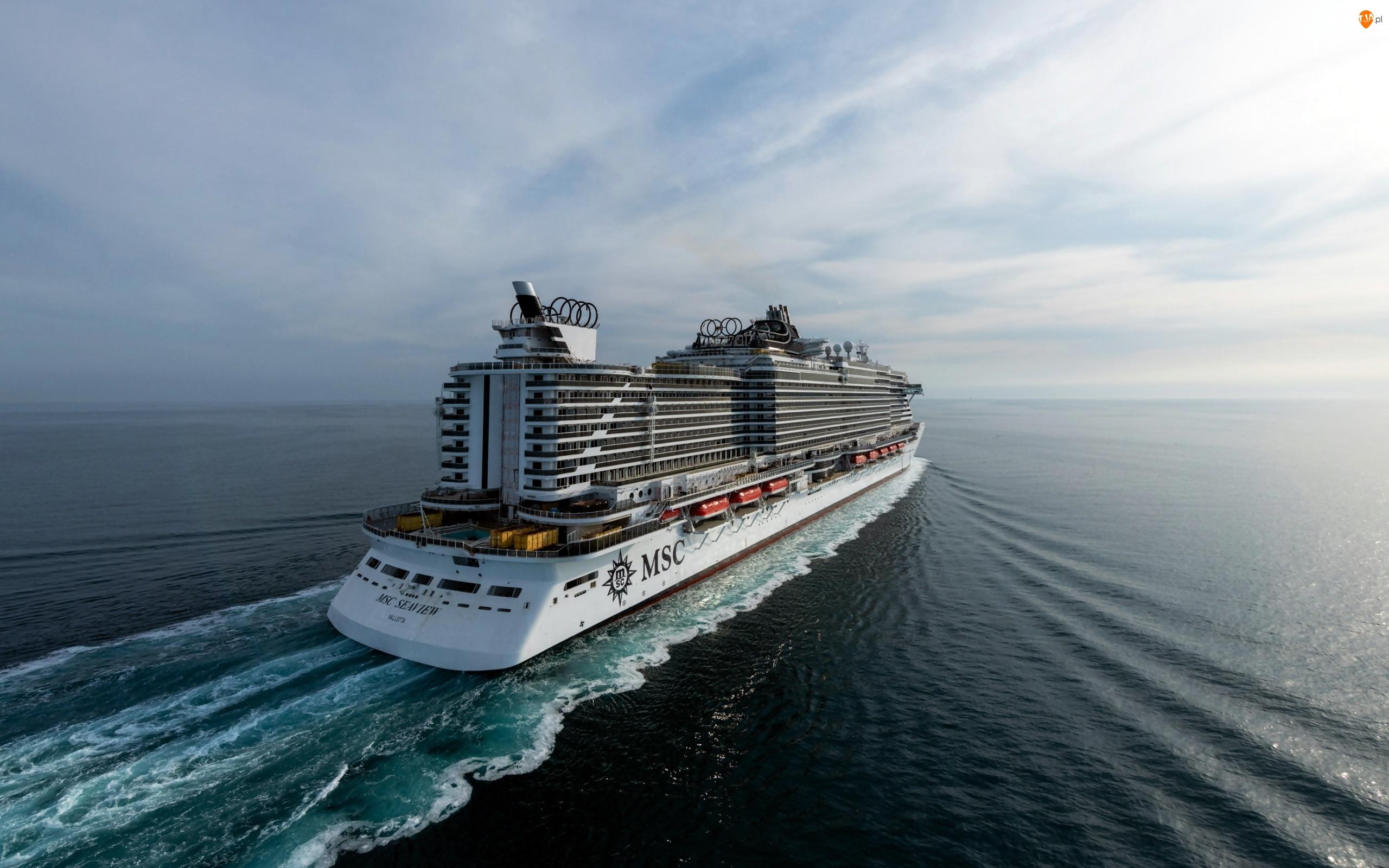 Morze, Statek wycieczkowy, MSC Seaview