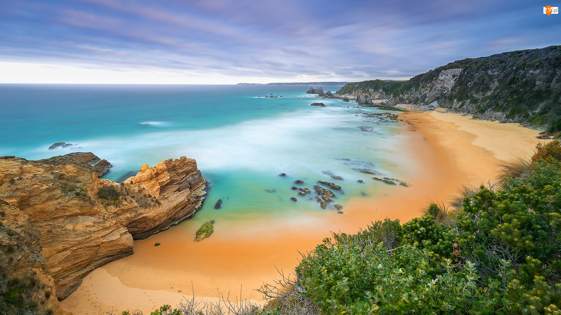 Morze, Wybrzeże Sapphire, Skały, Australia, Plaża, Nowa Południowa Walia