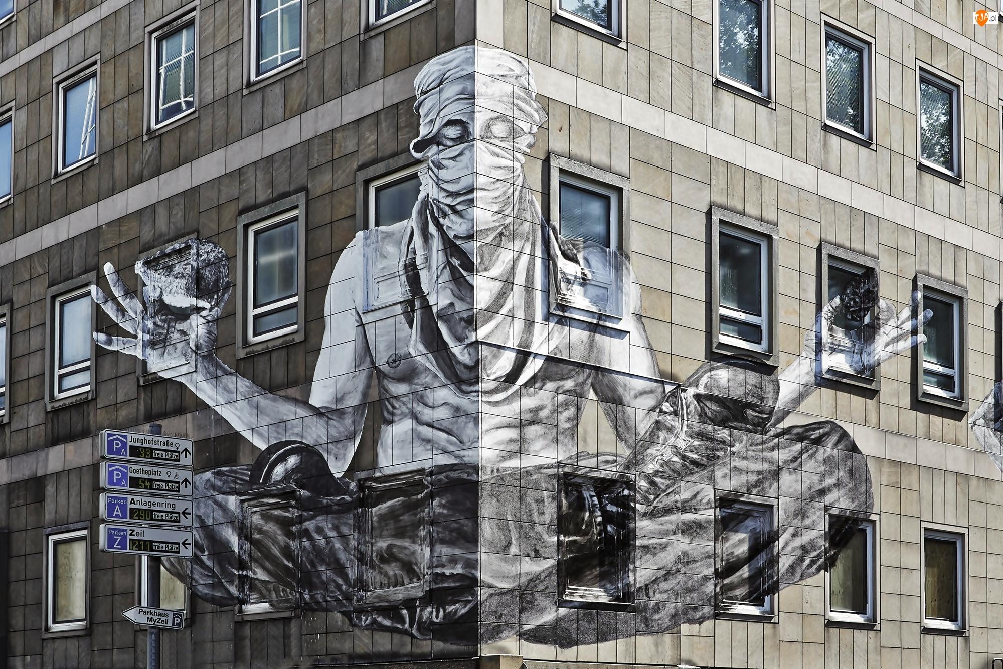 Człowiek, Mural
