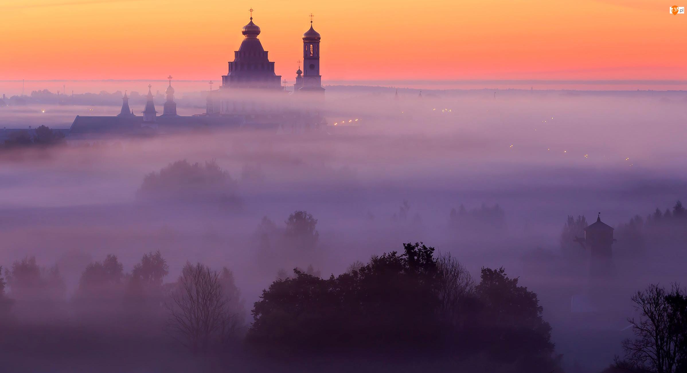 Cerkiew, Mgła, Drzewa