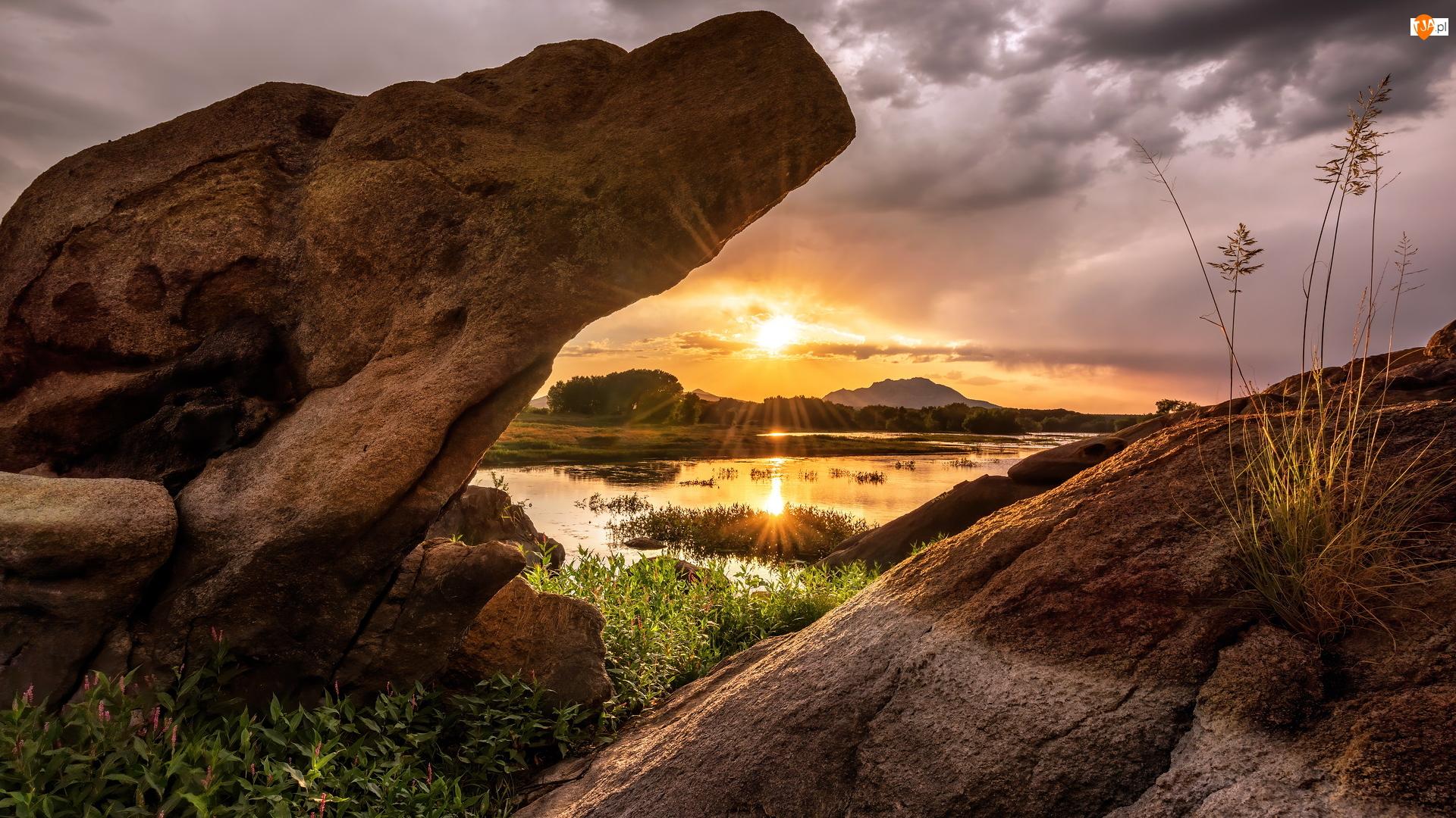 Arizona, Stany Zjednoczone, Prescott, Skały, Hrabstwo Yavapai, Jezioro Willow Lake