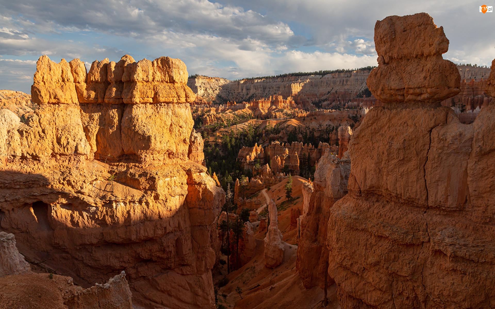Kanion, Stany Zjednoczone, Skały wapienne, Park Narodowy Bryce Canyon, Stan Utah