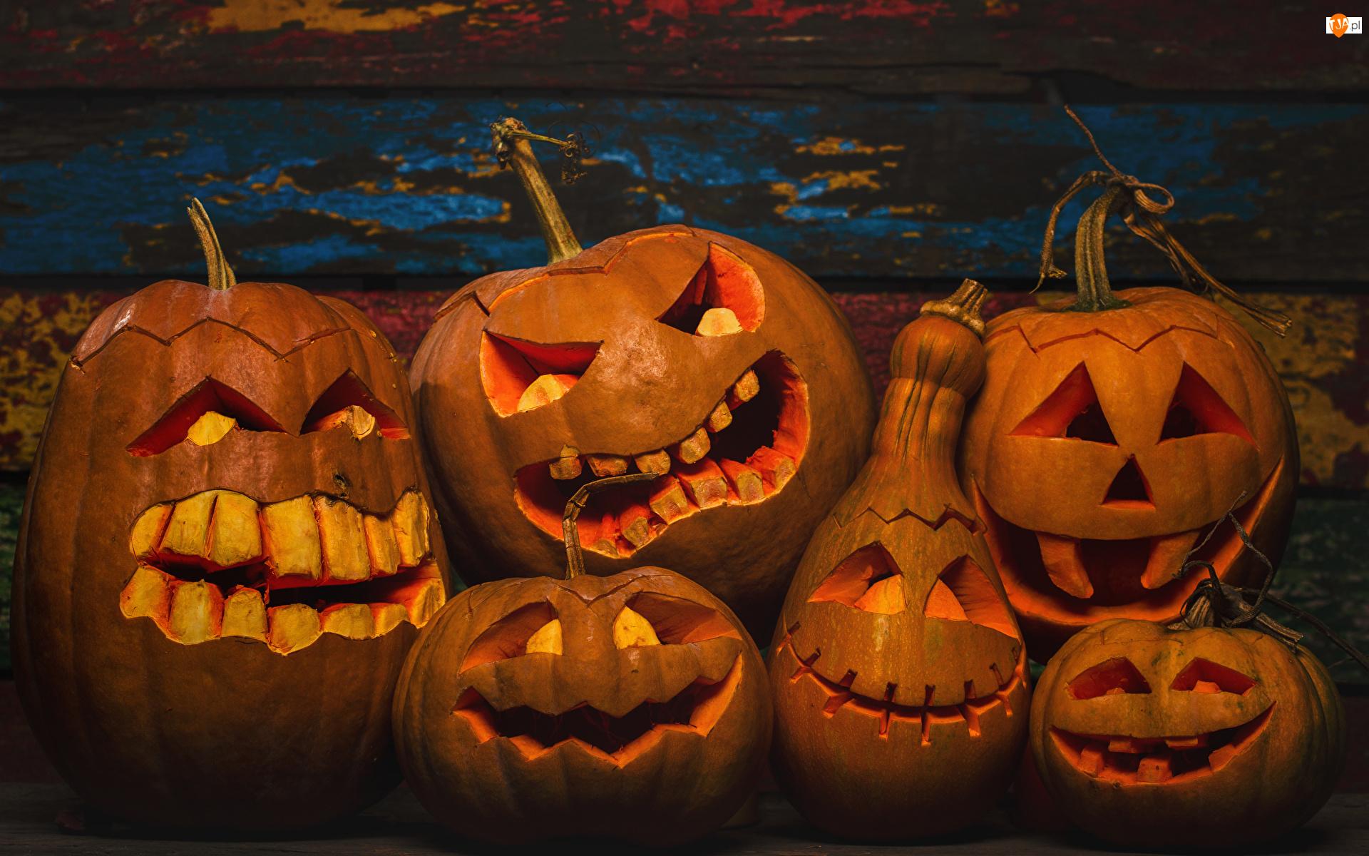 Lampiony, Halloween, Dynie