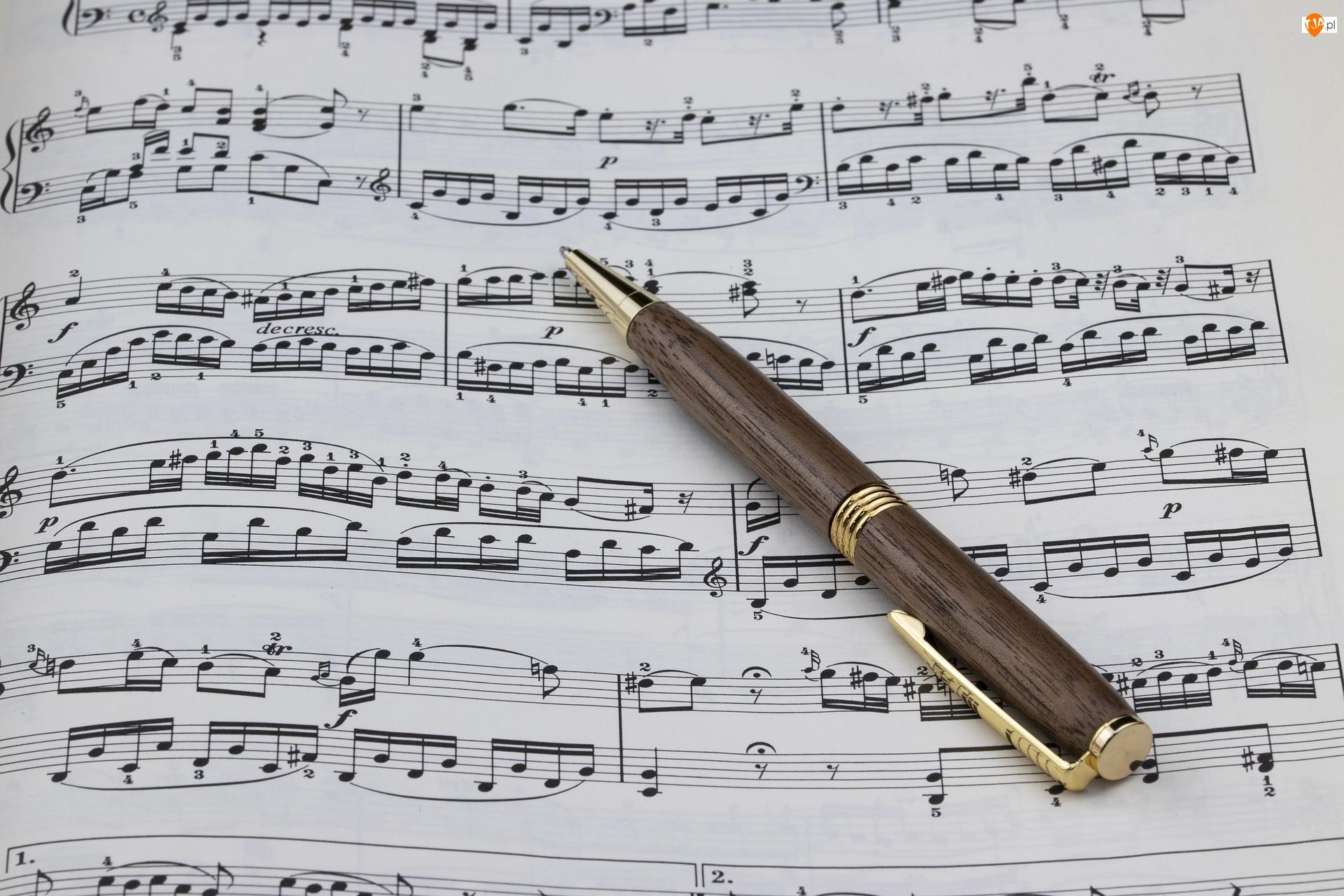 Długopis, Muzyka, Nuty