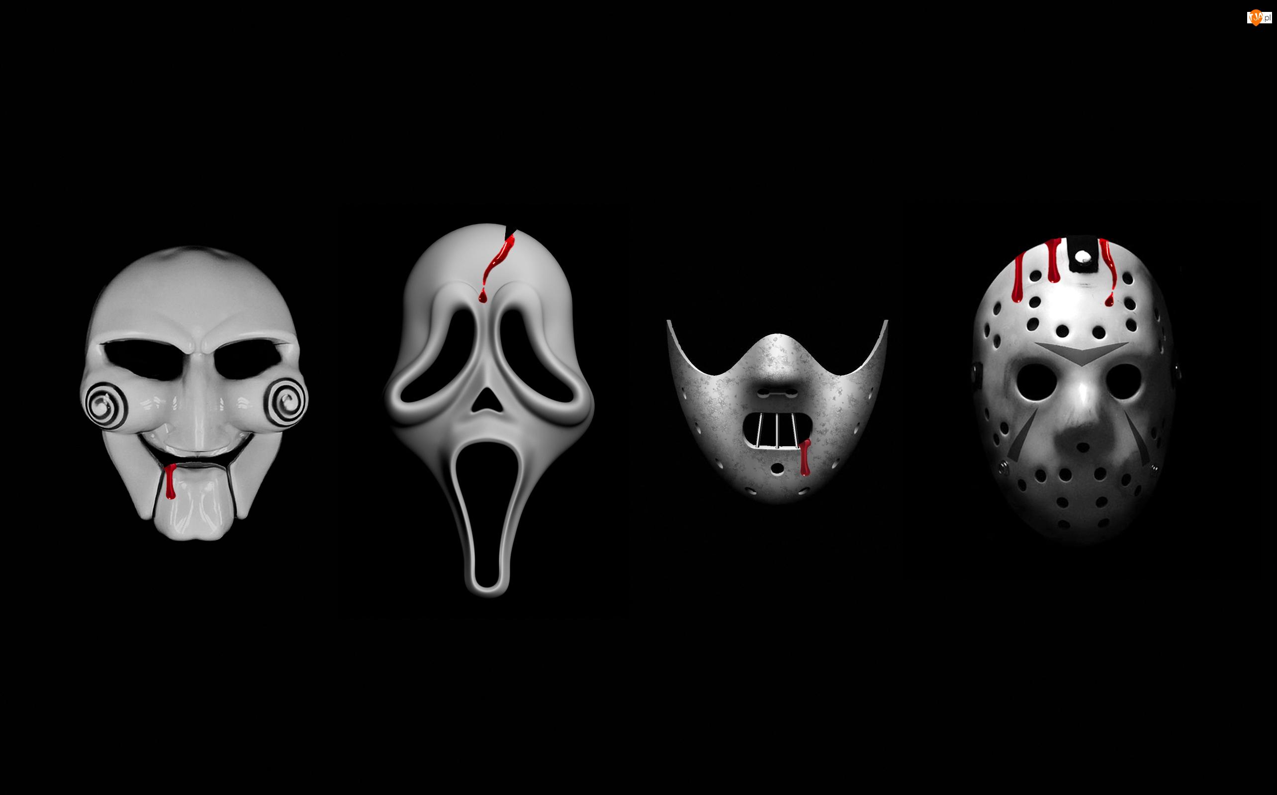 Tło, Maski, Horror, Czarne