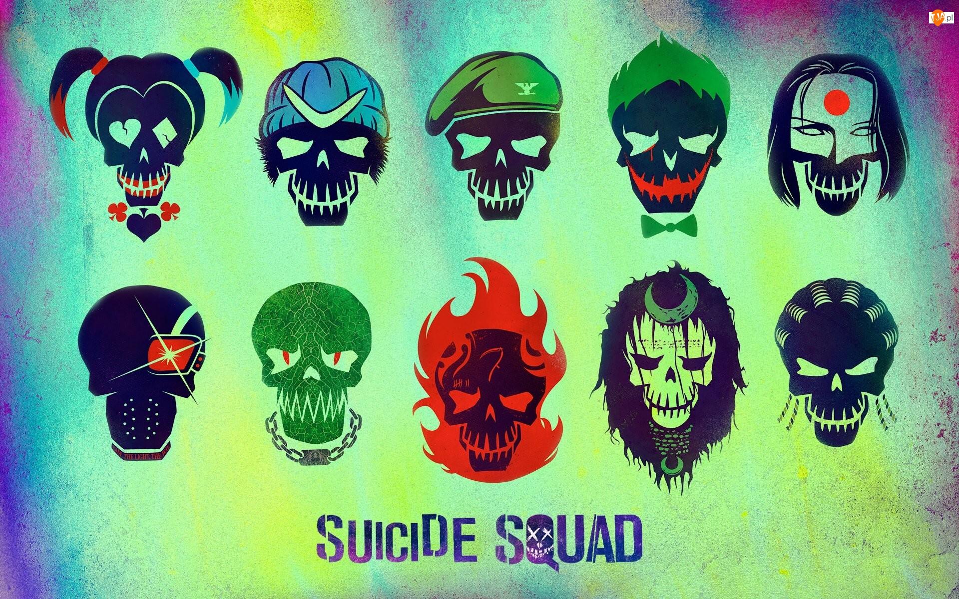 Suicide Squad The Album, Various Artists, Płyta, Okładka, Czaszki