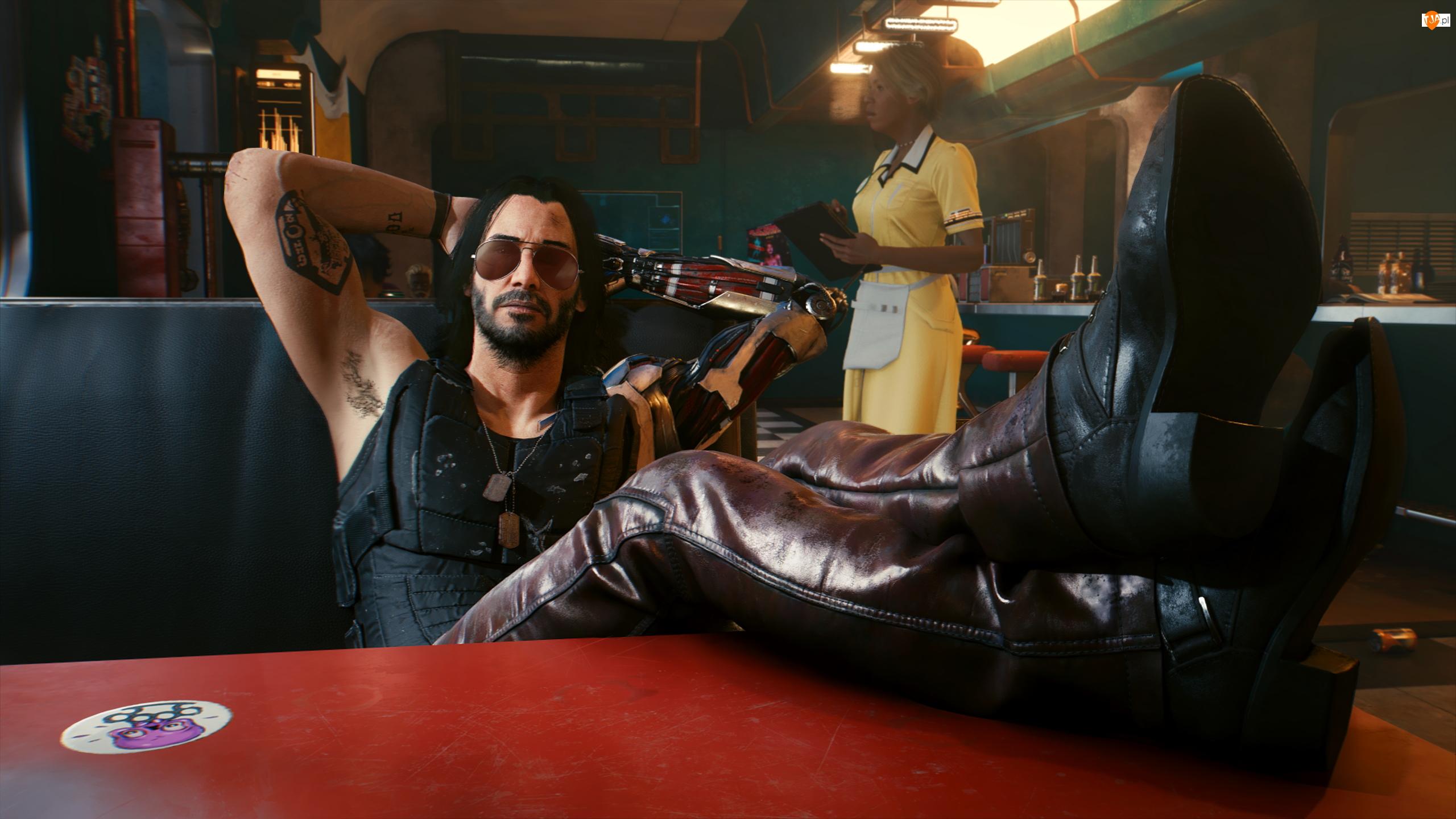 Cyberpunk 2077, Gra, Johnny Silverhand, Keanu Reeves, Postać, Aktor