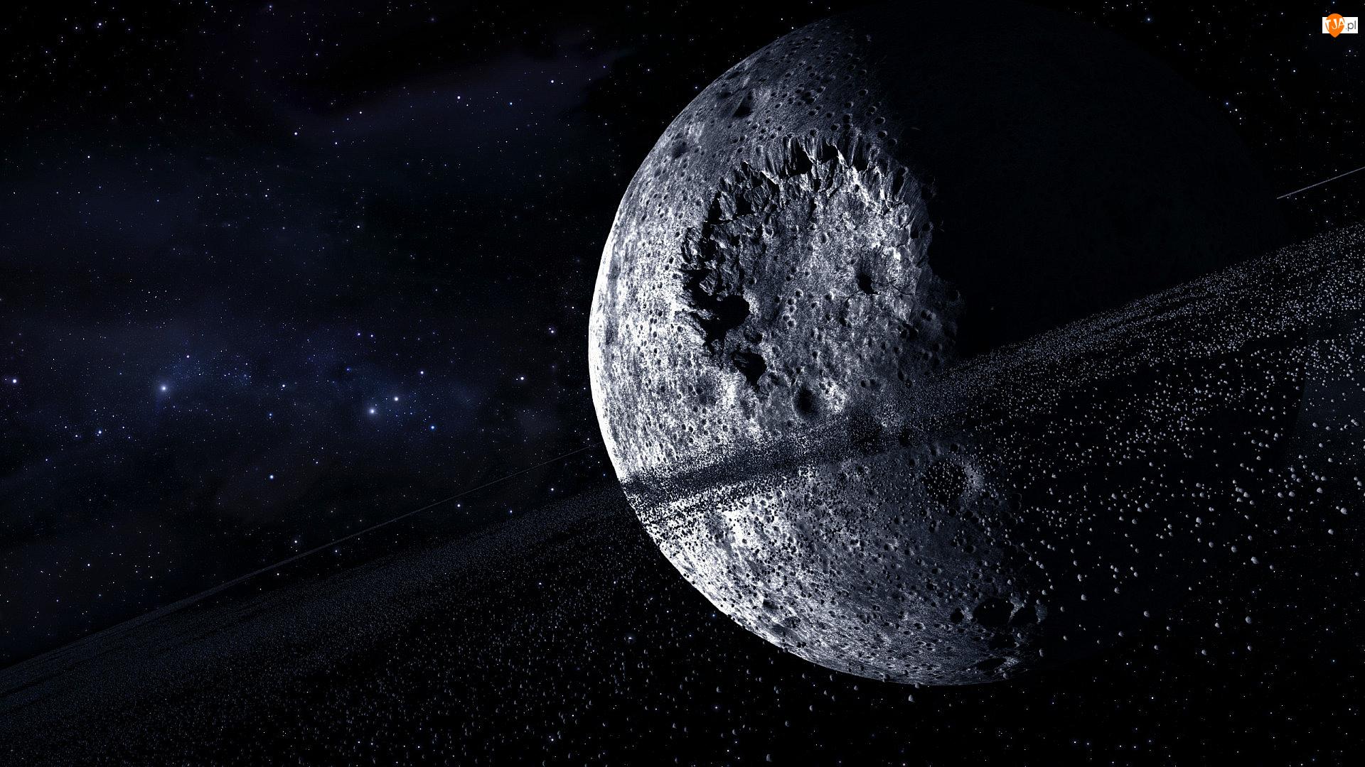 Gwiazdy, Kosmos, Planeta, Księżyc