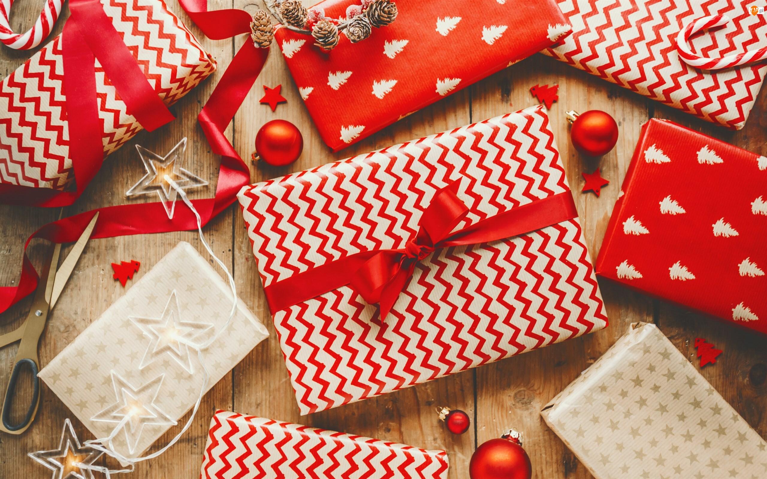 Ozdobne, Bombki, Prezenty, Świąteczne, Opakowania