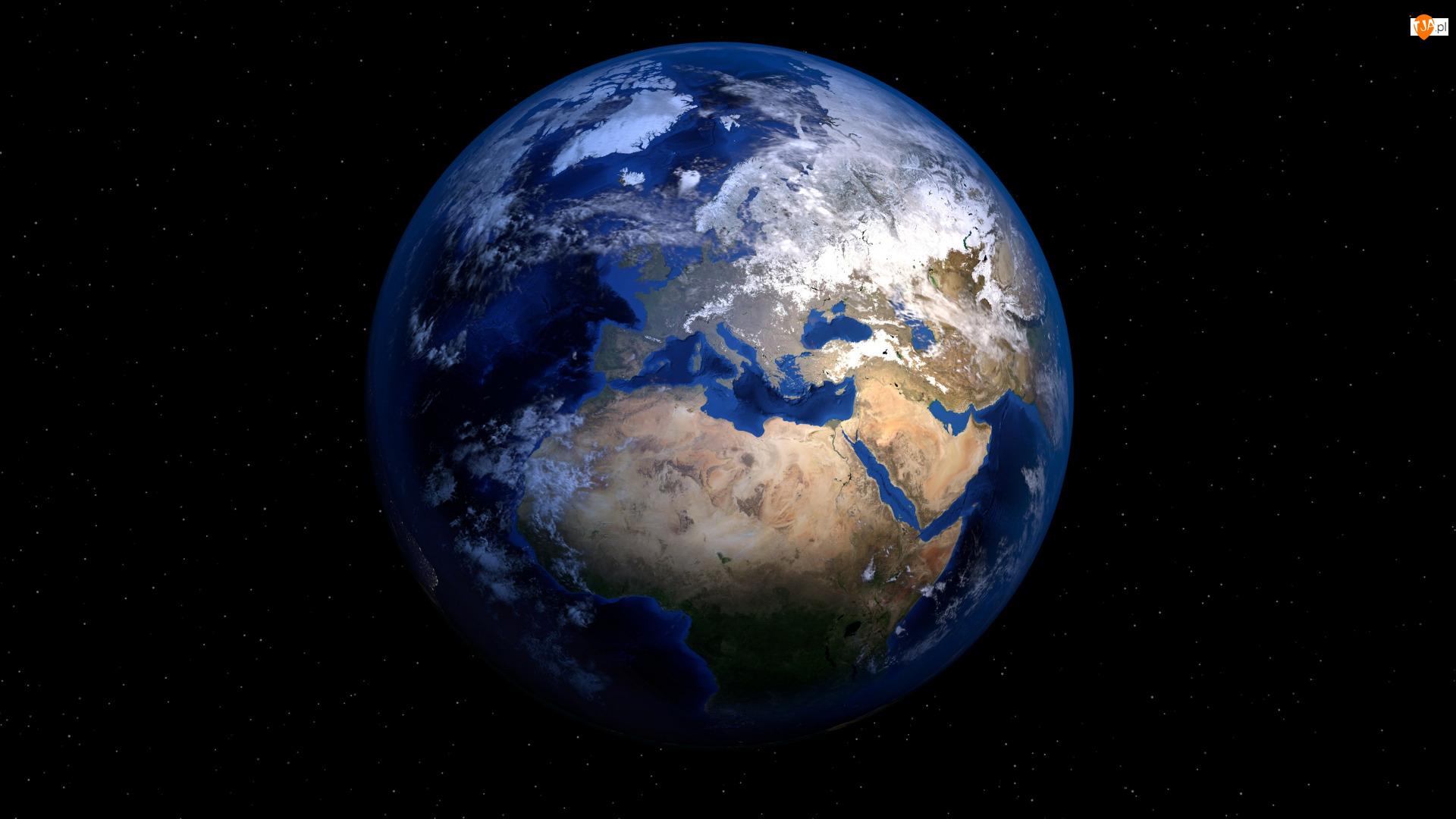Gwiazdy, Kontynenty, Planeta, Ziemia