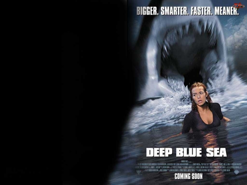 Deep Blue Sea, kobieta, woda, rekin