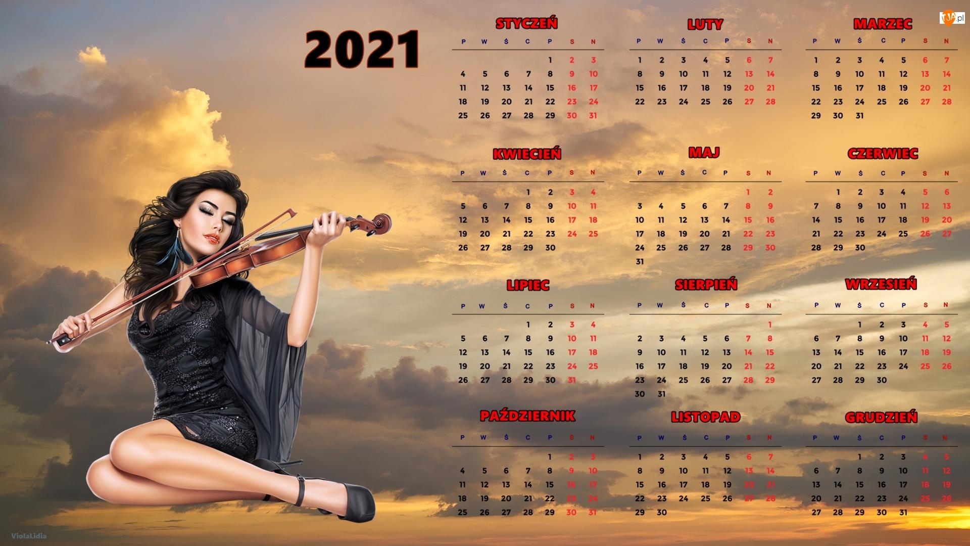 2021, Kalendarz
