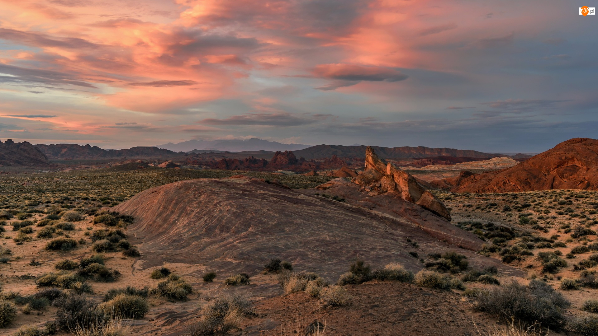 Dolina Ognia, Stany Zjednoczone, Park stanowy Valley of Fire, Skały, Nevada