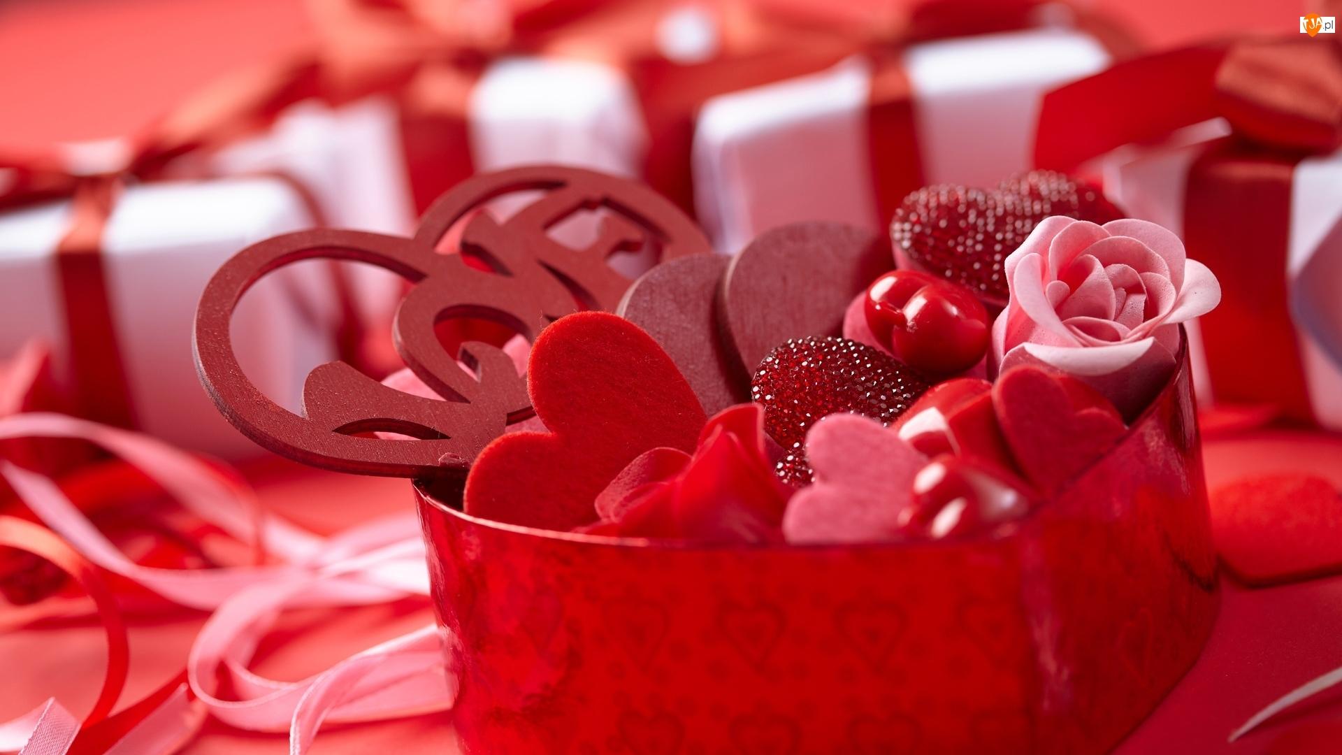 Słodycze, Walentynki, Serduszka, Pudełko, Prezenty