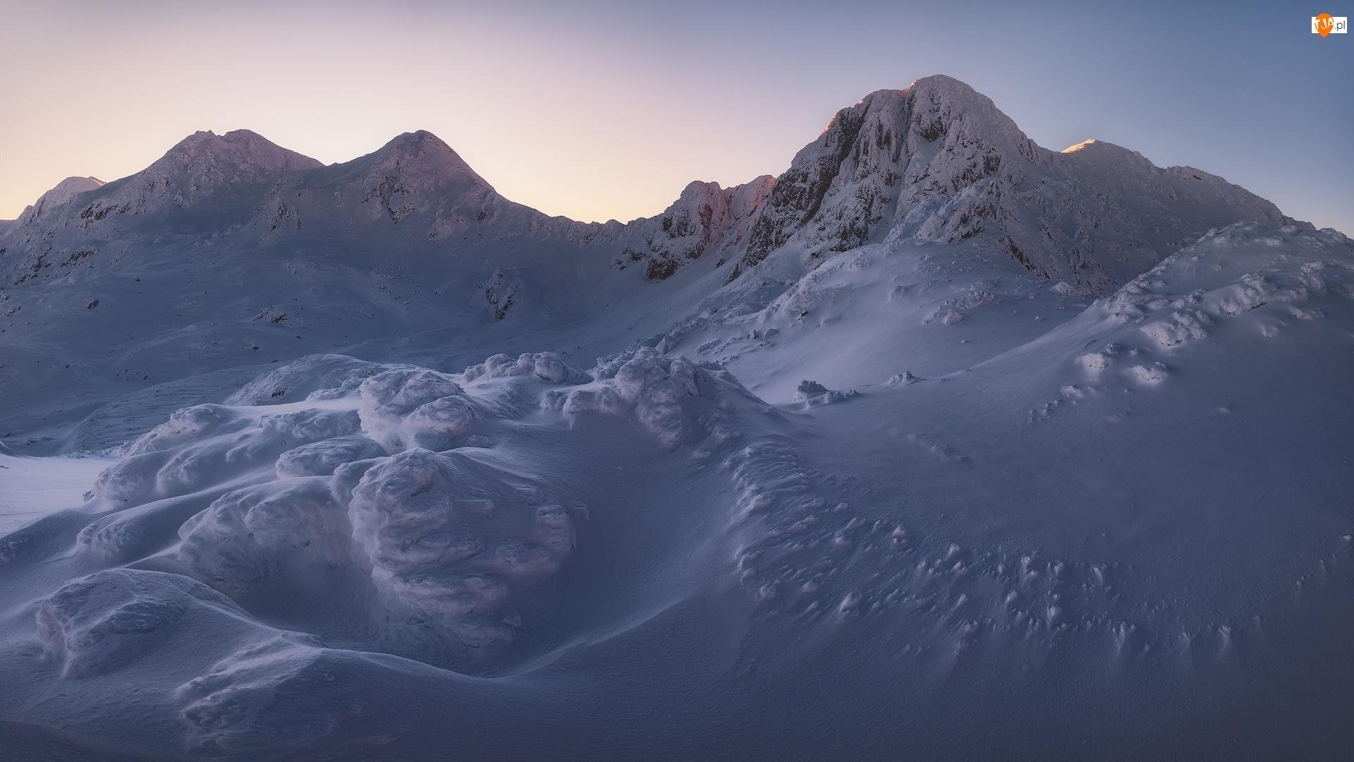 Zaspy, Góry, Zima, Śnieg