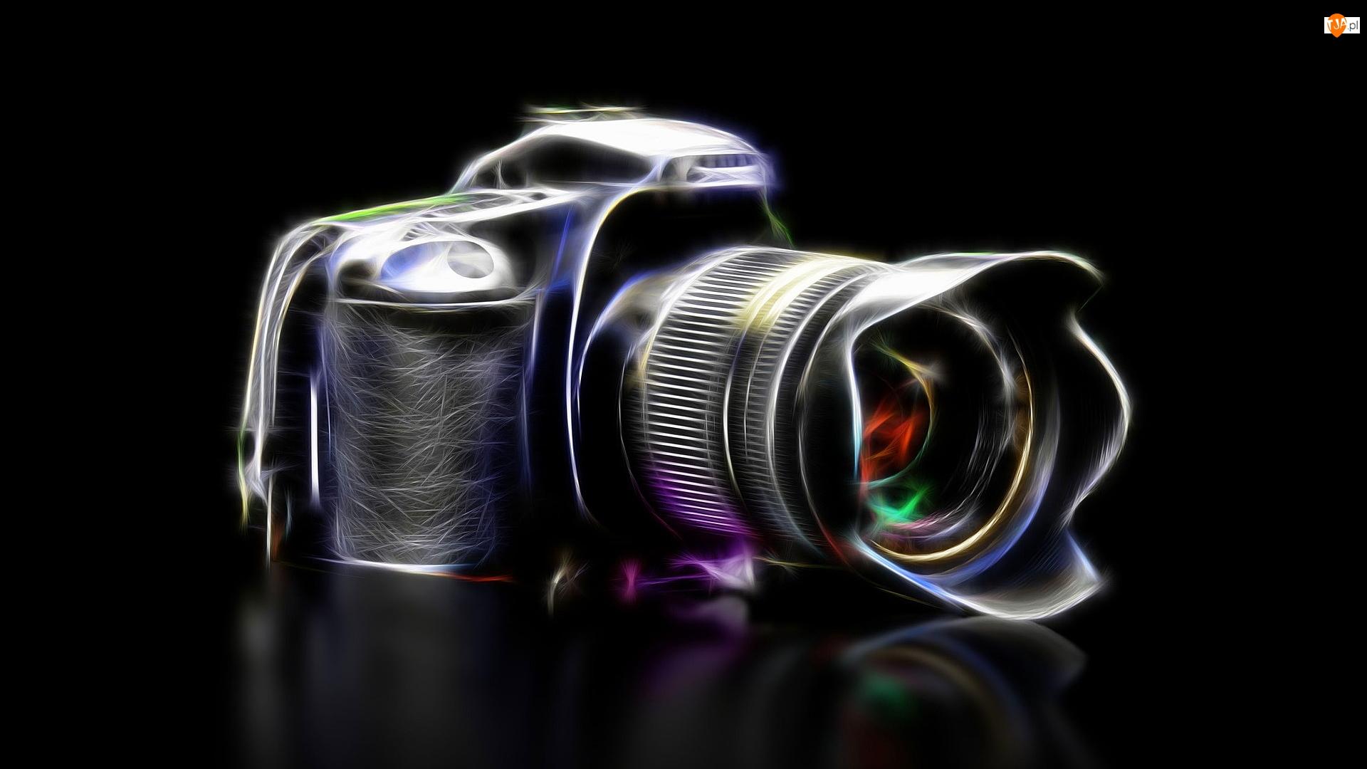 Tło, Aparat fotograficzny, Fractalius, Czarne