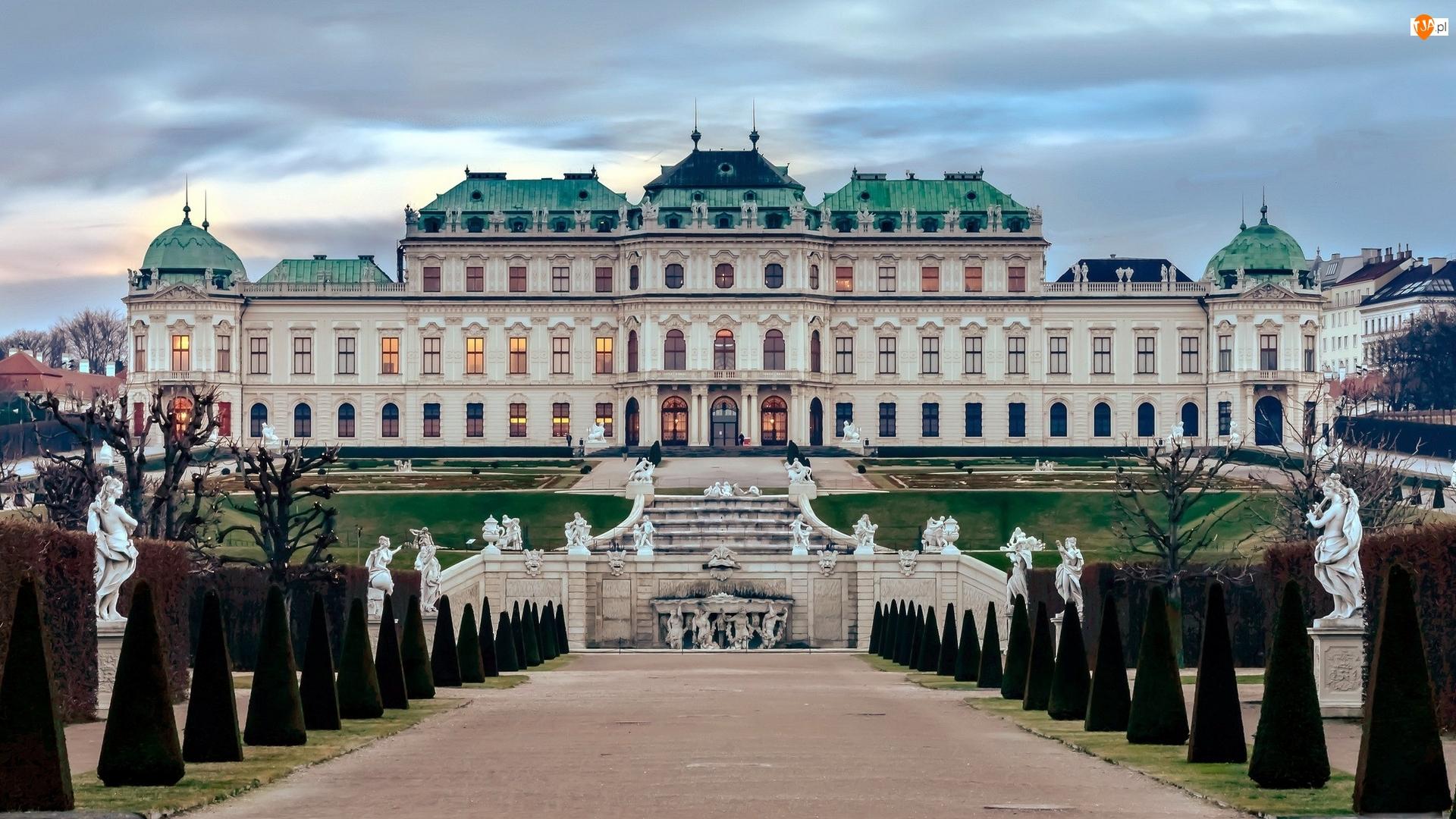 Belweder, Pałac, Park, Austria, Aleja, Wiedeń
