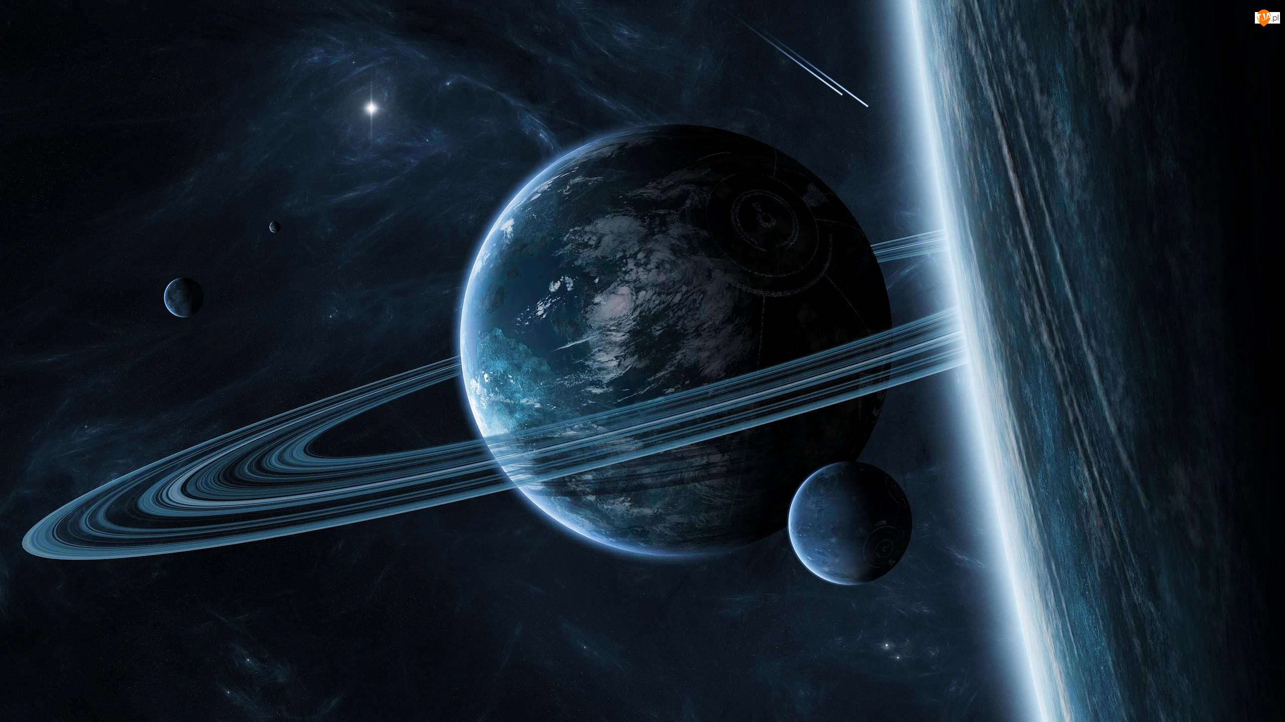 Gwiazdy, Planety, Pierścienie, Kosmos