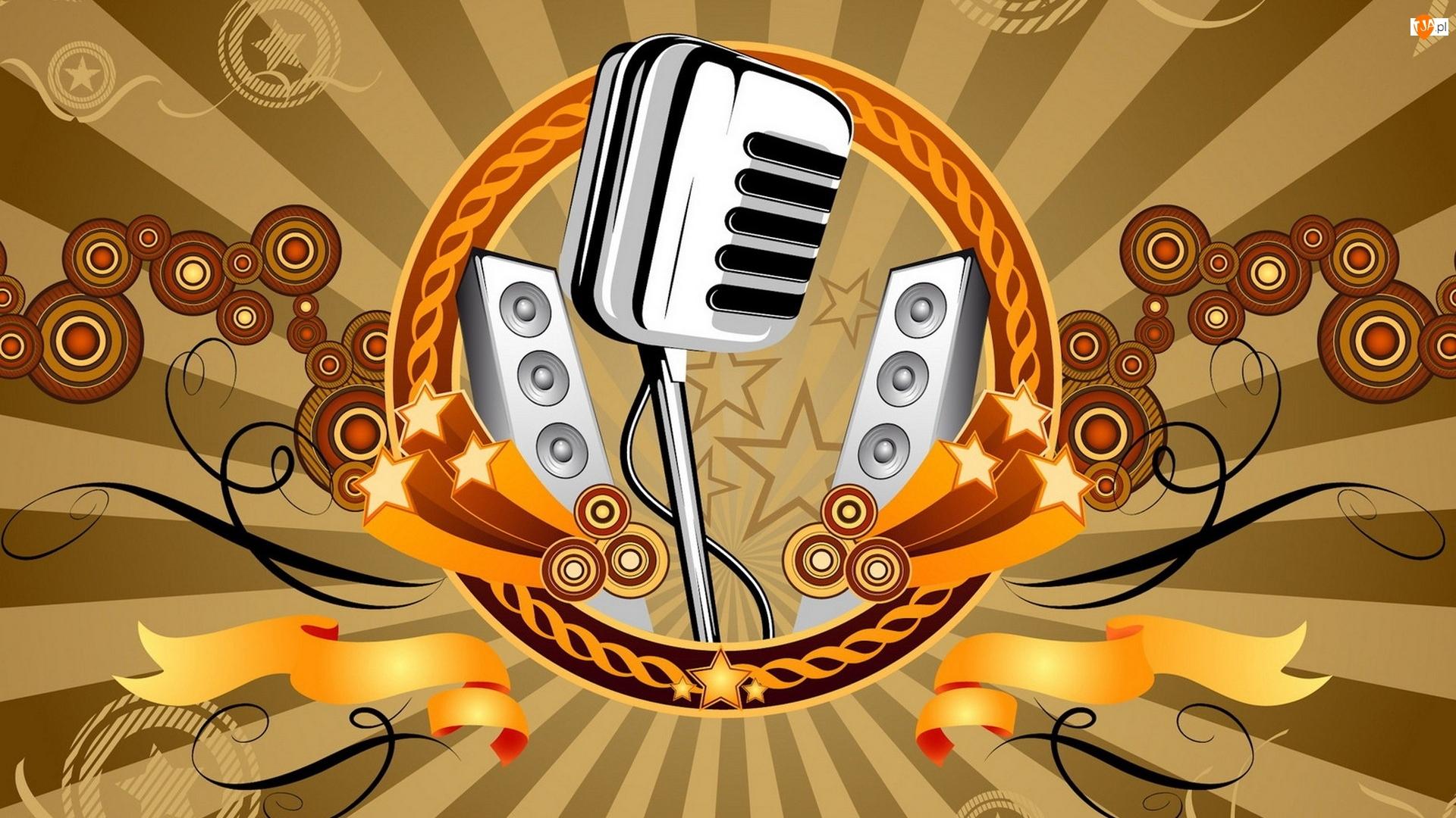 Grafika, Muzyka, Mikrofon, Głośniki