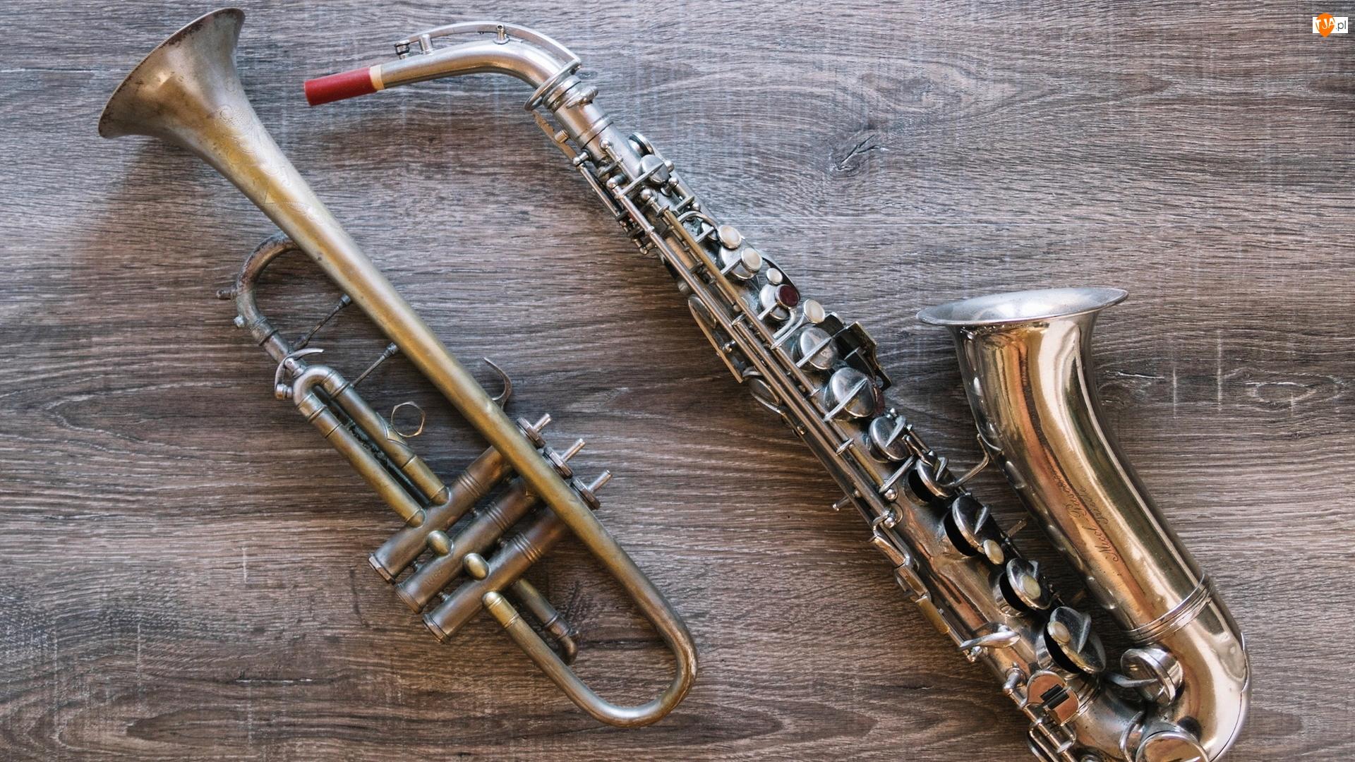 Drewno, Instrumenty, Saksofon, Trąbka