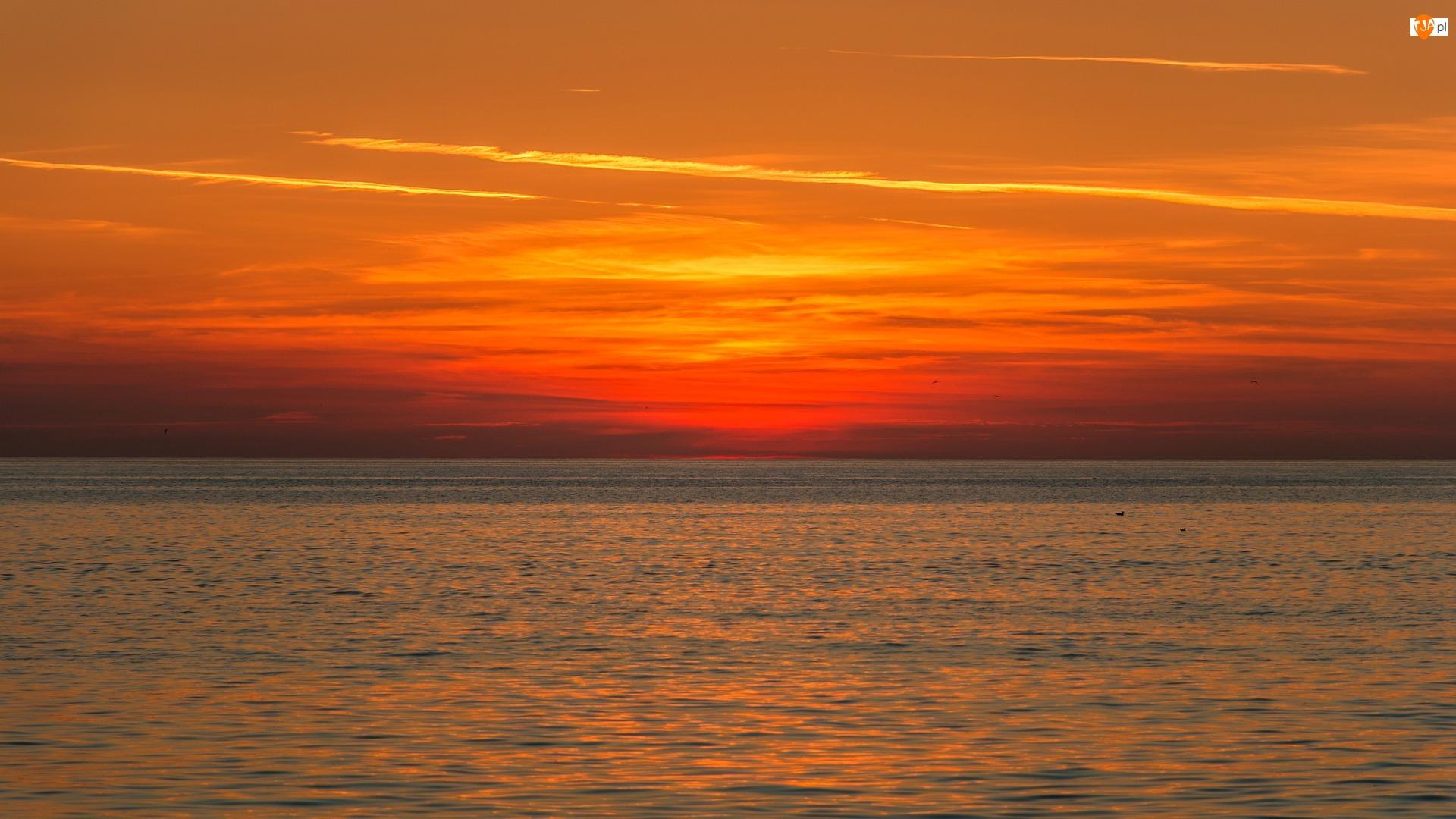 Horyzont, Morze, Zachód słońca
