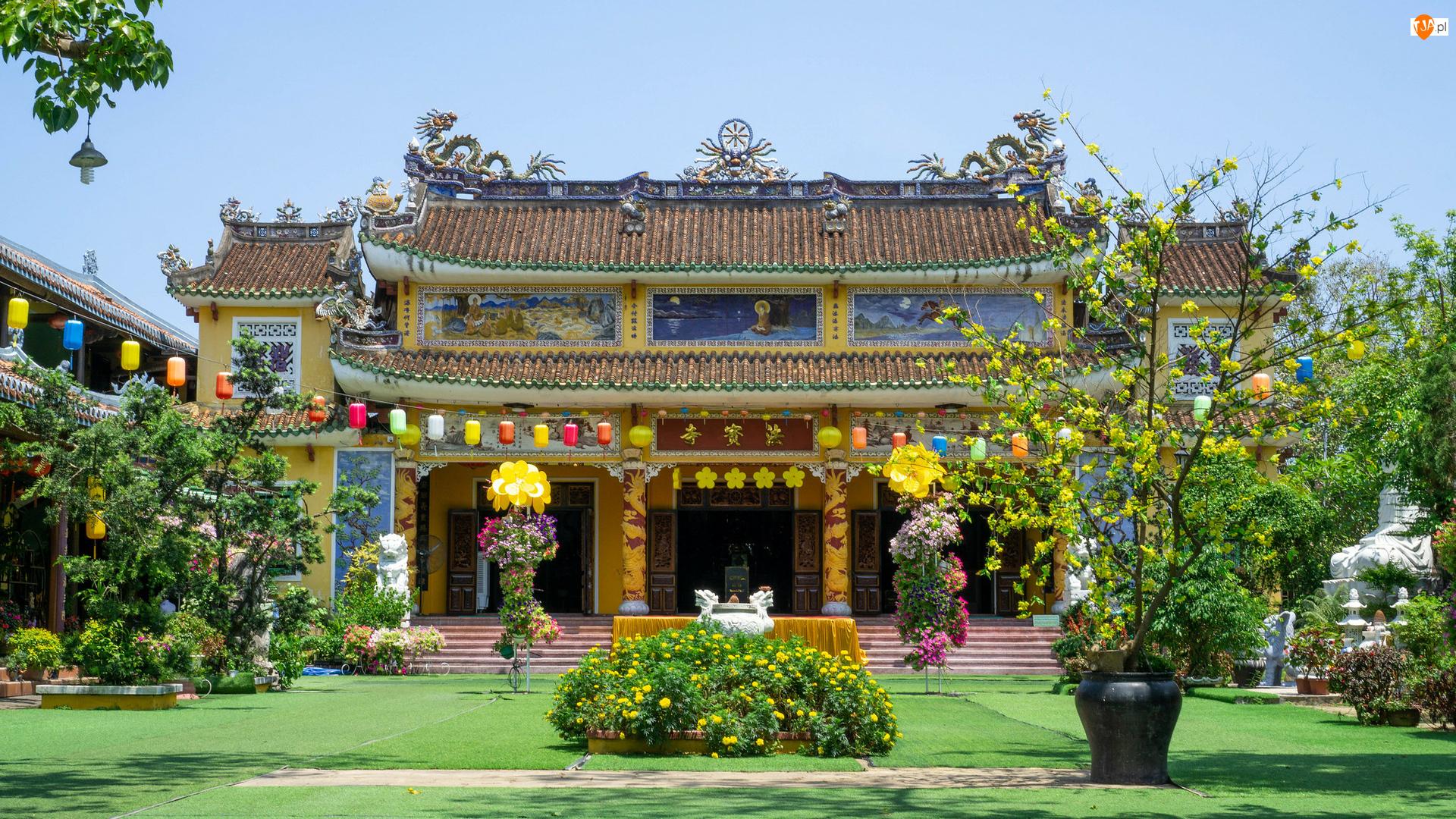 Rośliny, Wietnam, Chua Phap Bao, Świątynia, Hoi An