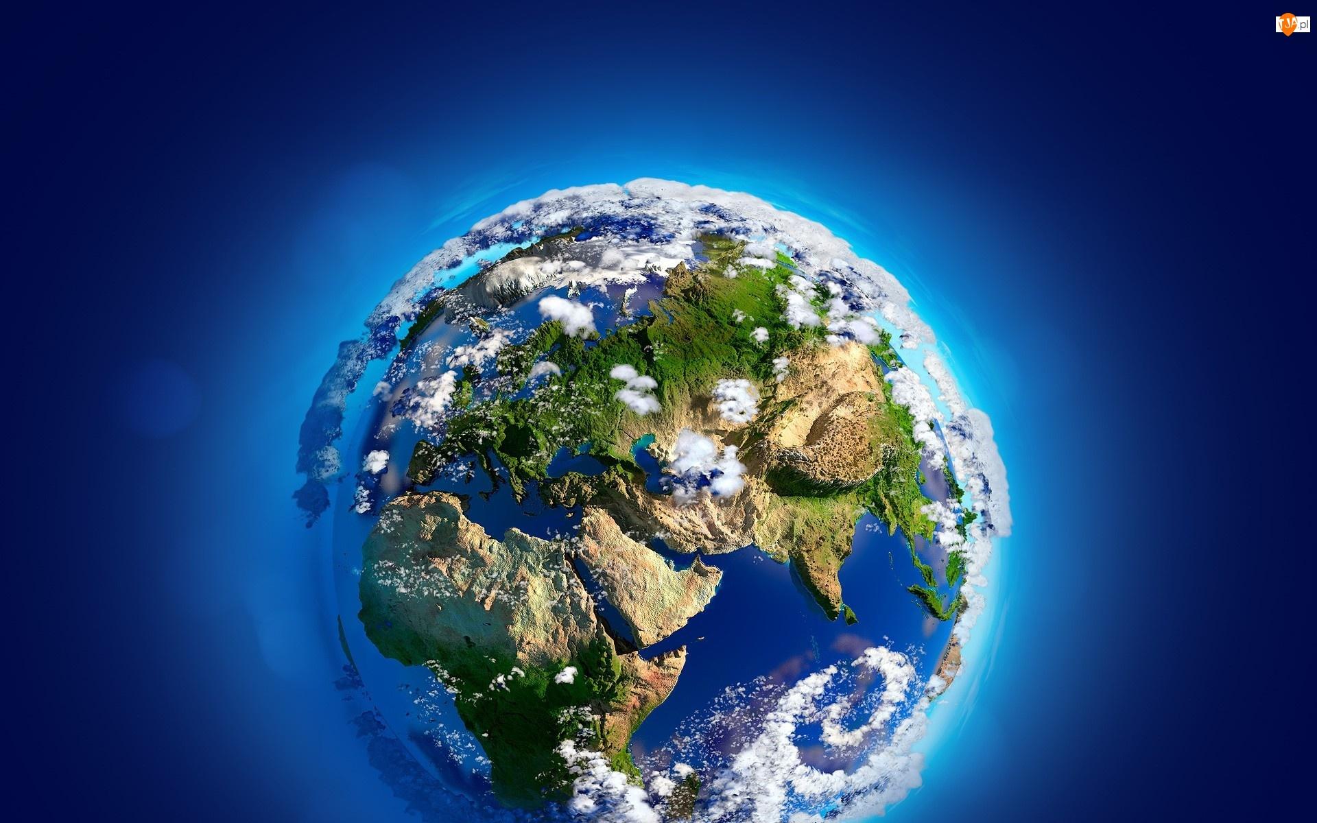 Ziemia, Grafika, 3D, Planeta