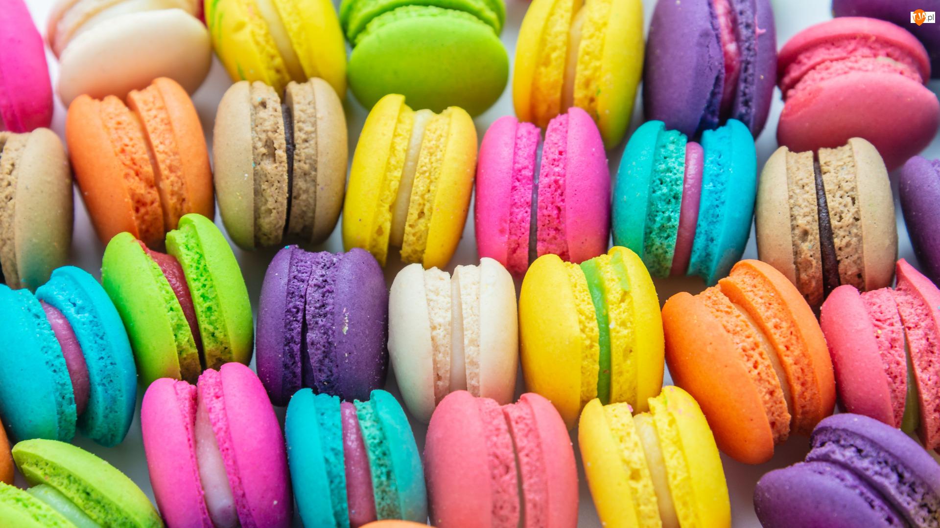 Kolorowe, Ciasteczka, Makaroniki