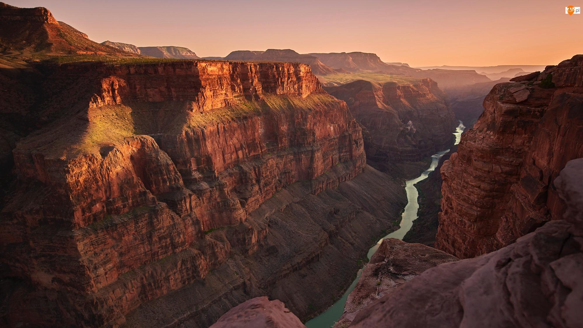 Wielki Kanion Kolorado, Rzeka Kolorado, Park Narodowy Wielkiego Kanionu, Stany Zjednoczone, Grand Canyon