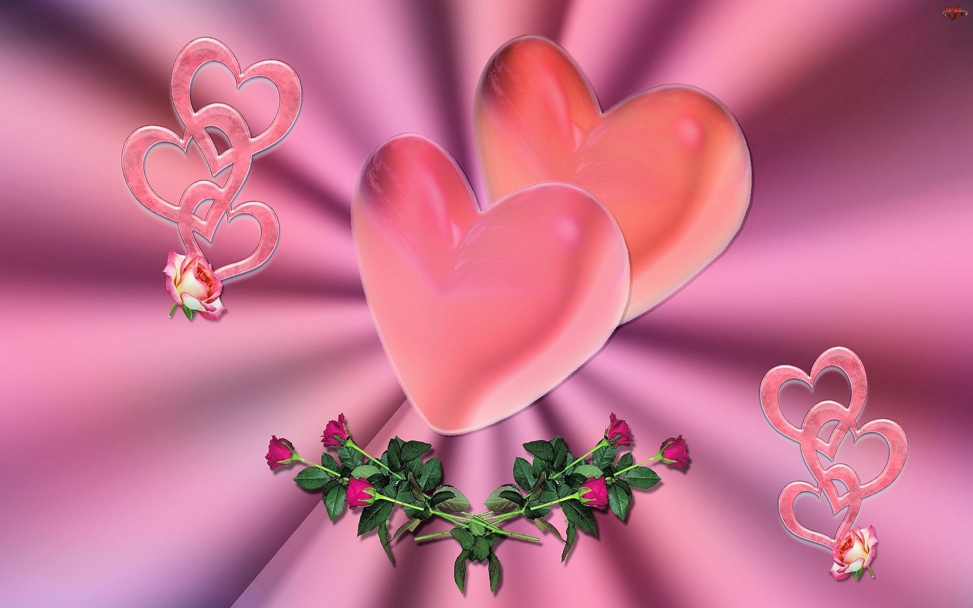 Miłość, Serca, Róże