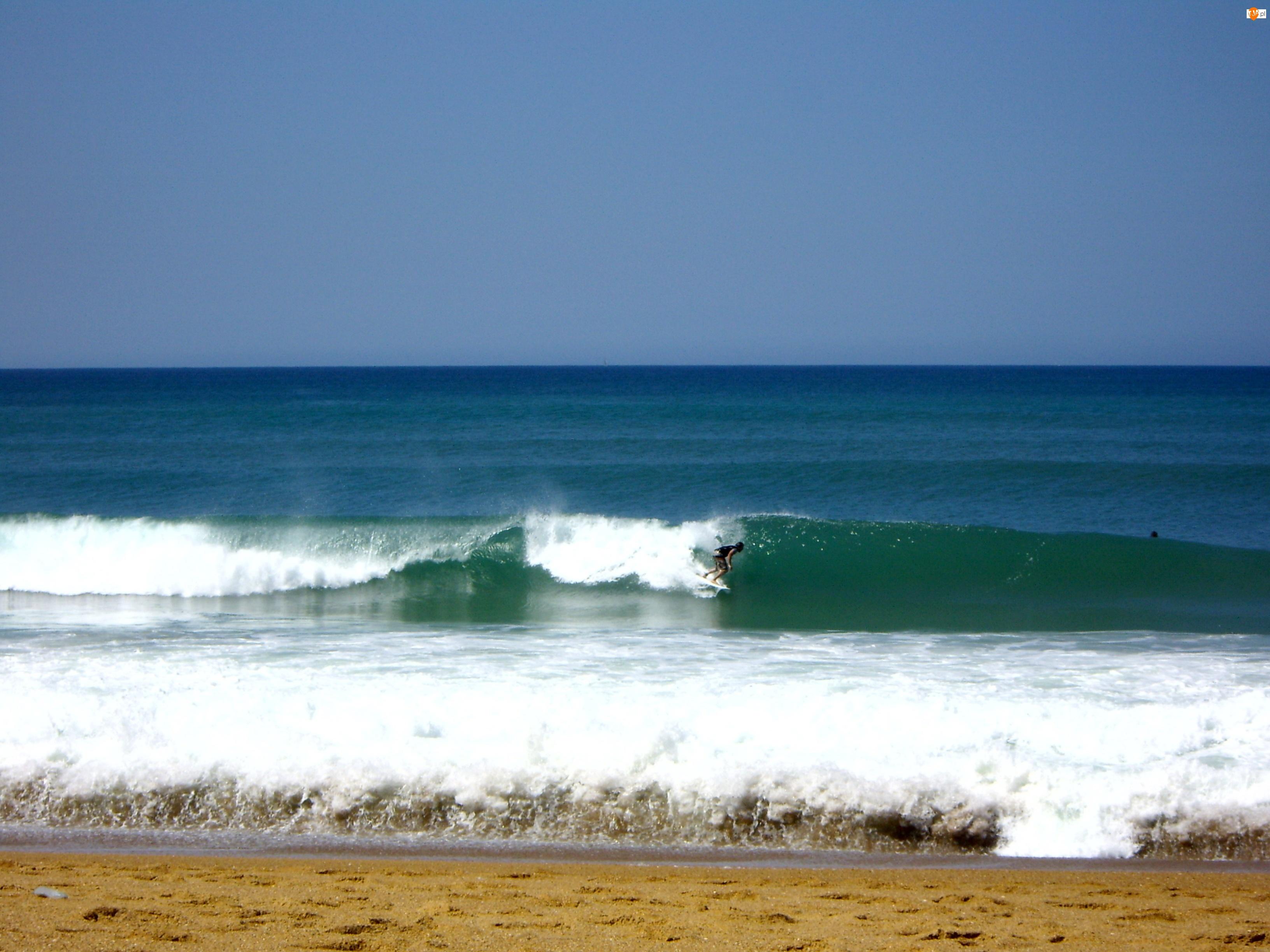 Francja, Morze, Surfing