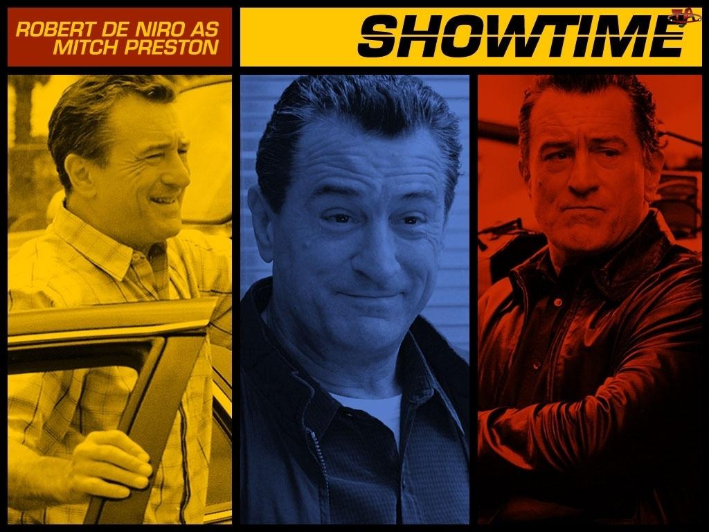 Showtime, napis, kolory, Robert De Niro