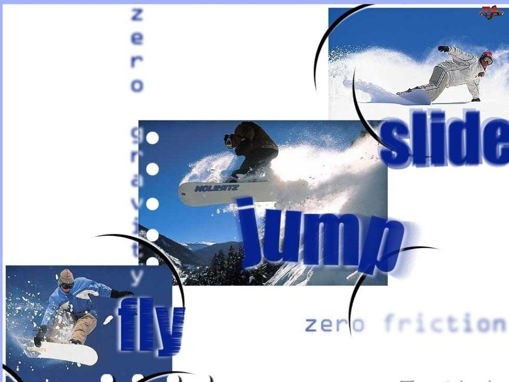 jump, Snowbording, śnieg, deska , snowboardzista