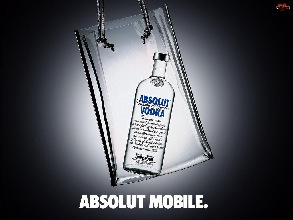 butelka, Vodka, Absolut