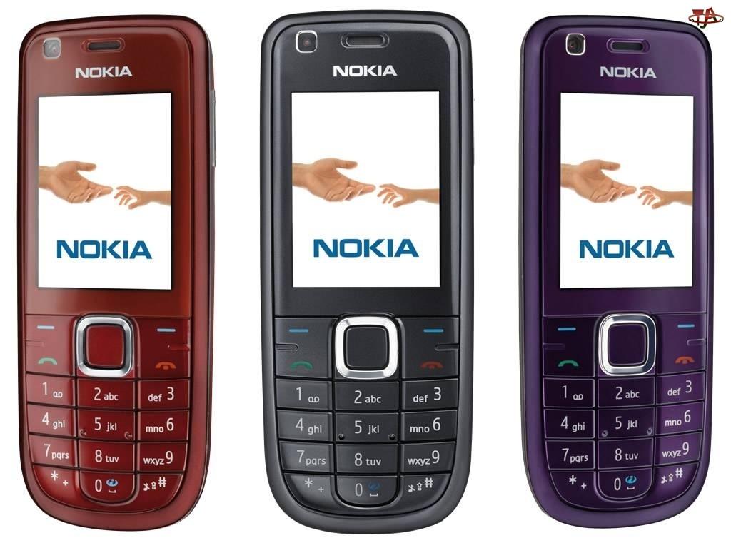 Nokia 3120, Fioletowa, Rubinowa, Czarna