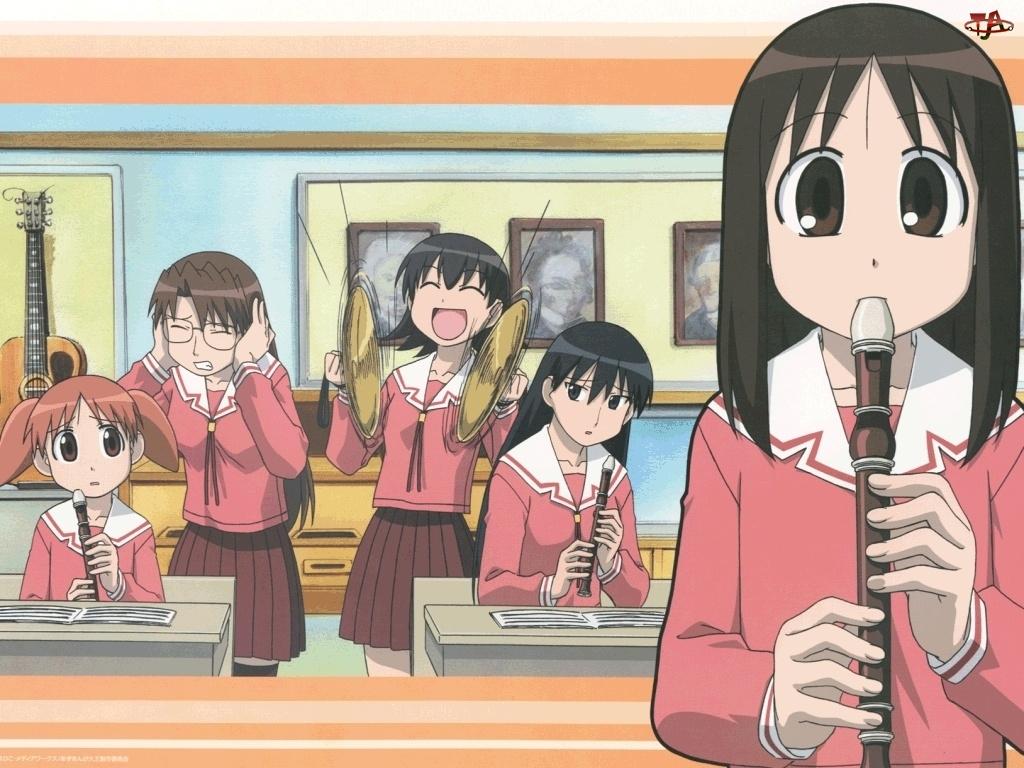 dziewczyny, Azumanga Daioh, muzyka