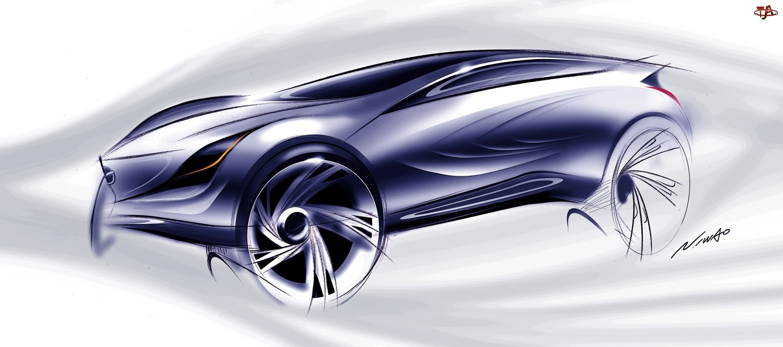 Kazamai, Szkic, Mazda, Projekt