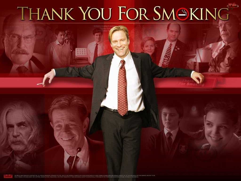 Katie Holmes, Cameron Bright, Aaron Eckhart, William H. Macy, Thank You For Smoking, garnitur, Maria Bello, Sam Elliott