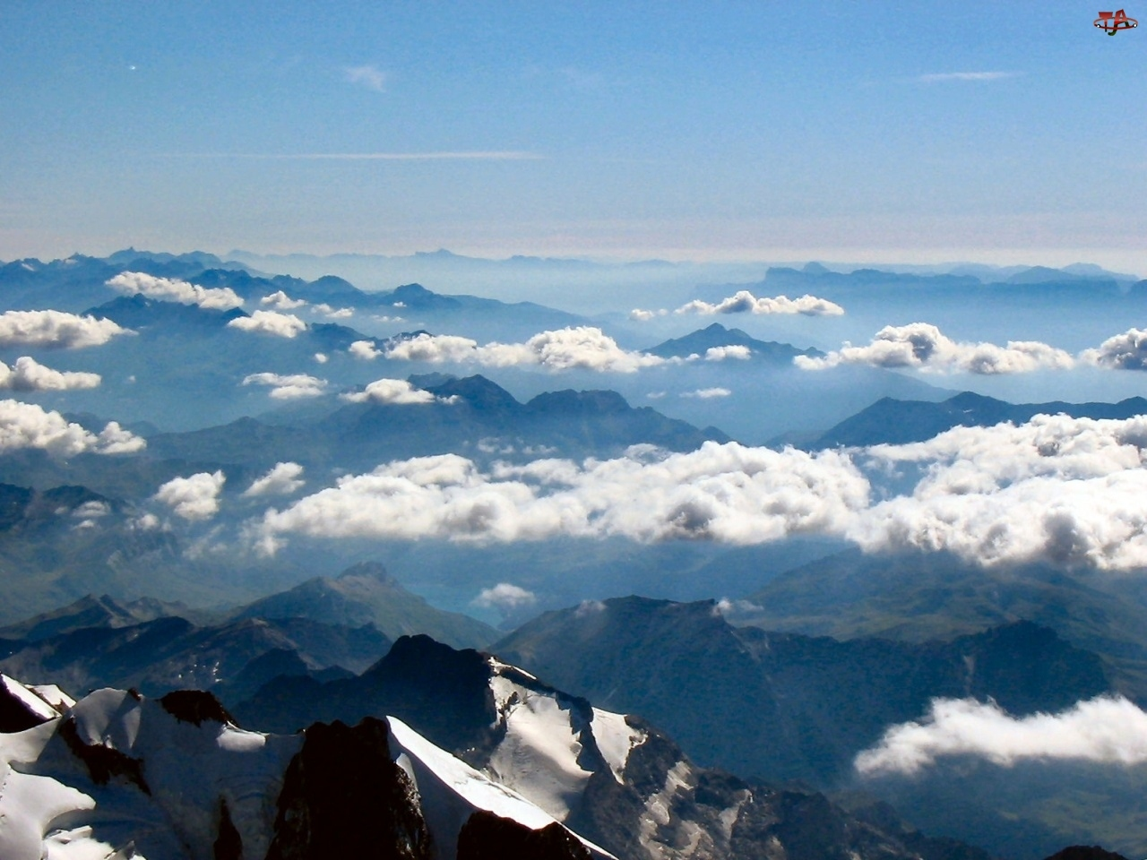 Góry, Alpy, Chmury