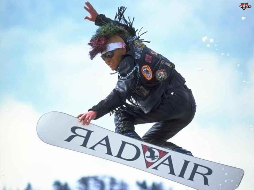 pank, Snowbording, snowboardzista, deska, śnieg