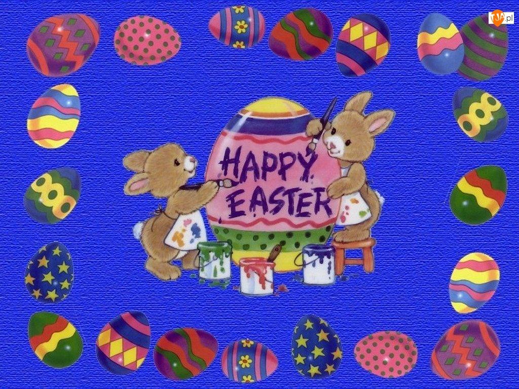 Wielkanoc, króliczki, pisanki , jajeczka