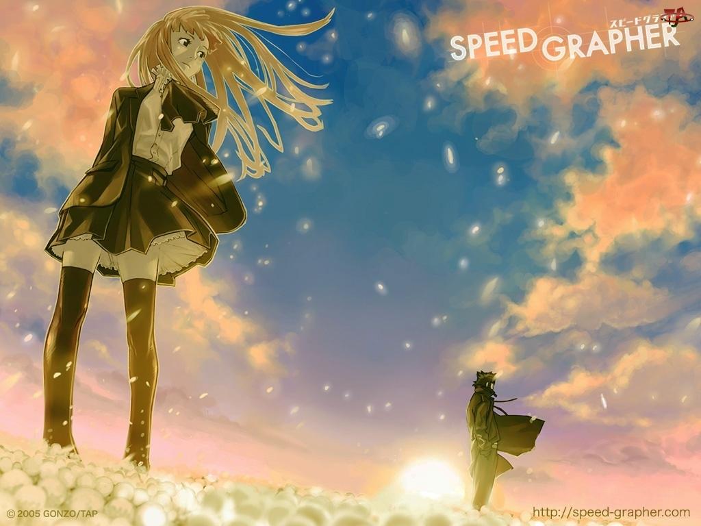 krótka spódniczka, Speed Grapher, dziewczyna