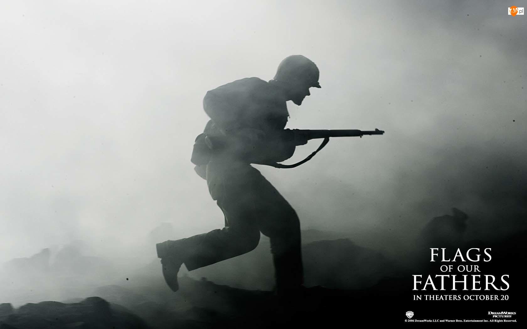 dym, Flags Of Our Fathers, żołnierz